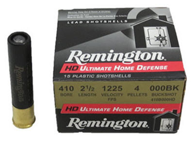 remington hd ultimate home defense 410 governor ammo